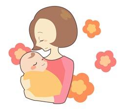 お母さんと赤ちゃんのイラスト