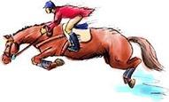 馬の跳躍のイメージ
