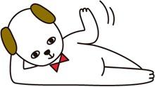 可愛い犬のイラスト