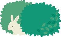 藪と兎のイラスト